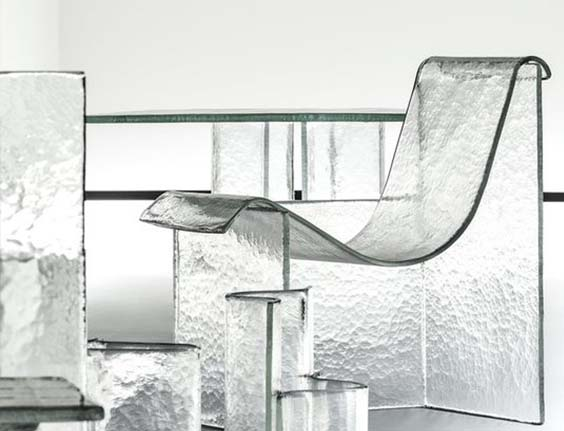 Glazen meubels